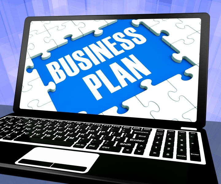 4188488-business-plan-on-laptop-shows-management-strategies